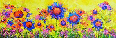 Breath Of Sunshine - Modern Impressionist Artwork - Palette Knife Work Poster by Patricia Awapara