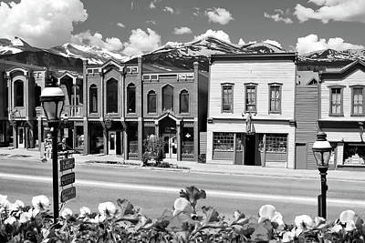Poster featuring the photograph Breckenridge Colorado Mountains Black And White - Ski Town by Gregory Ballos