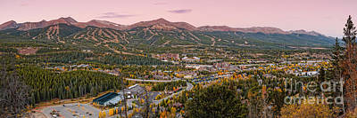 Breckenridge Panorama At Twilight - Fall Season Rocky Mountains Colorado Poster by Silvio Ligutti