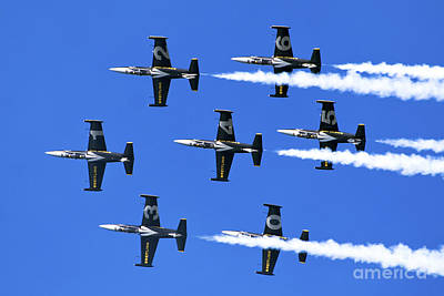Breitling Air Display Team L-39 Albatross Poster by Nir Ben-Yosef