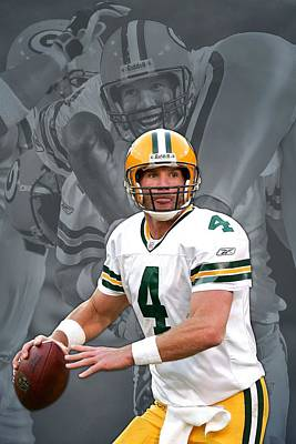 Brett Favre Green Bay Packers Poster by Joe Hamilton