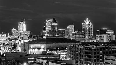 Poster featuring the photograph Brew City At Night by Randy Scherkenbach