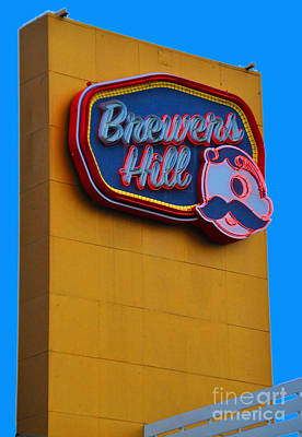 Brewers Hill Retro Poster by Jost Houk