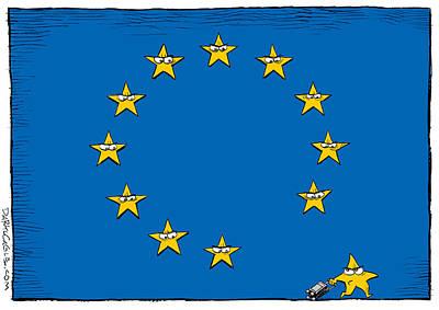 Brexit Eu Flag  Poster