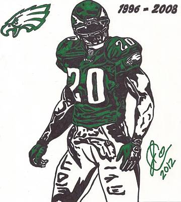 Brian Dawkins 3 Poster by Jeremiah Colley