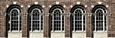 Poster featuring the photograph Brick Arch Windows by Brad Allen Fine Art