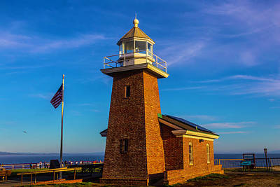 Brick Lighthouse At Point Pinos Poster by Garry Gay