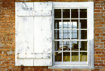Brick Schoolhouse Window Photo Poster