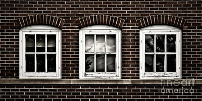 Poster featuring the photograph Brick Trio by Brad Allen Fine Art