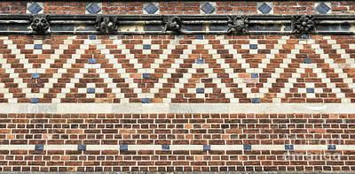 Brick Wall Pattern Oxford Poster