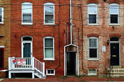 Brick Walls Windows And Drainpipes Poster
