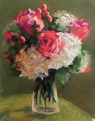 Poster featuring the painting Bridal Bouquet by Pam Talley