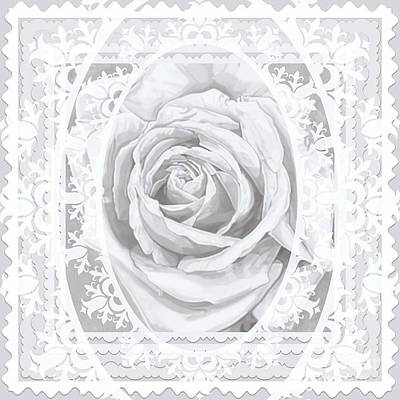 Bridal Rose Wedding Lace Poster by Ann Aveyard