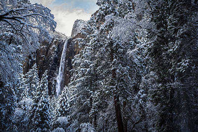 Bridal Veil Falls In Winter Poster