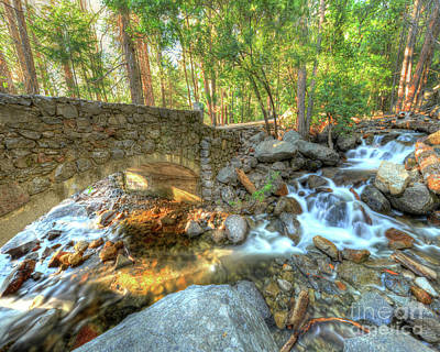 Bridalveil Creek At Yosemite By Michael Tidwell Poster