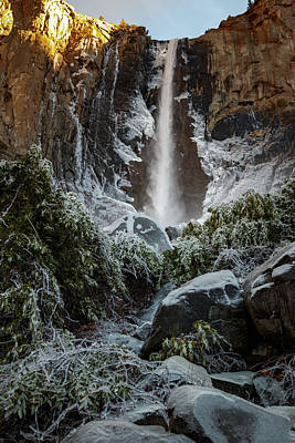 Bridalveil Fall Frozen Landing Yosemite California Poster
