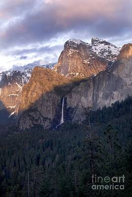 Bridalveil Falls From Tunnel View Poster