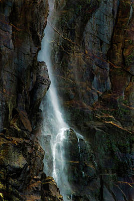 Bridalveil Falls In Autumn Poster by Bill Gallagher