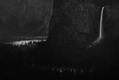 Bridalveil Falls Over Yosemite Valley Poster