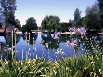 Briddlewood Vineyards Pond Poster