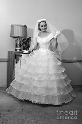 Bride In Gown And Veil, C.1950-60s Poster by H. Armstrong Roberts/ClassicStock