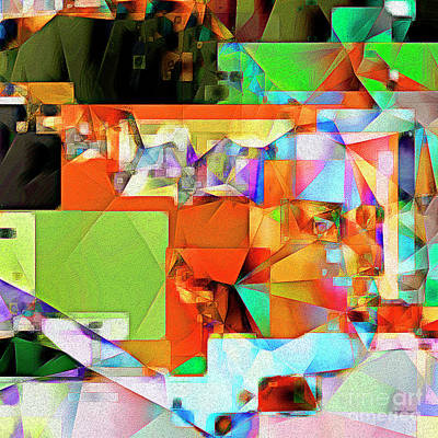 Bride Of Frankenstein In Abstract Cubism 20170402 Square Poster by Wingsdomain Art and Photography