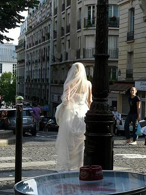 Poster featuring the photograph Bride Of Paris by Rdr Creative