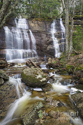 Bridesmaid Falls - Franconia New Hampshire Poster by Erin Paul Donovan