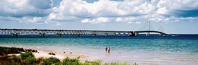Bridge Across A Lake, Mackinac Bridge Poster