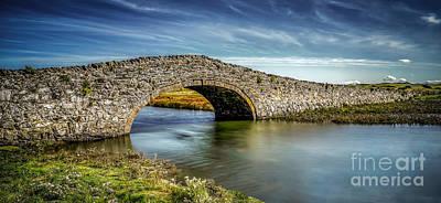 Bridge At Aberffraw Poster by Adrian Evans
