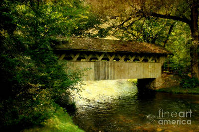 Poster featuring the photograph Bridge At Red Mill by Joel Witmeyer