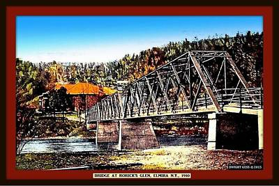 Bridge At Rorick's Glen, Elmira N Y, 1910 Poster by Dwight GOSS