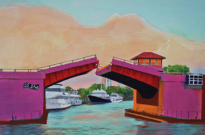 Poster featuring the painting Bridge At Se 3rd by Deborah Boyd