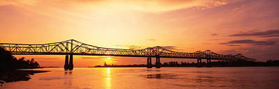 Bridge At Sunset, Natchez, Mississippi Poster by Panoramic Images