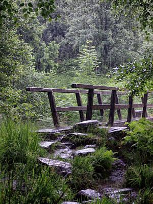 Bridge In The Rain Poster by Philip Openshaw
