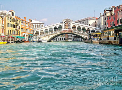 Poster featuring the photograph Bridge In Venice by Roberta Byram