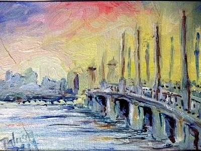 Bridge Of Lions Sunrise St Augustine, Fl Poster
