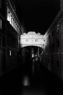 Bridge Of Sighs At Night Poster by Andrew Soundarajan