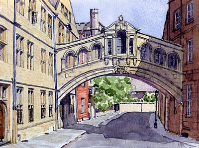 Bridge Of Sighs. Hertford College Oxford Poster