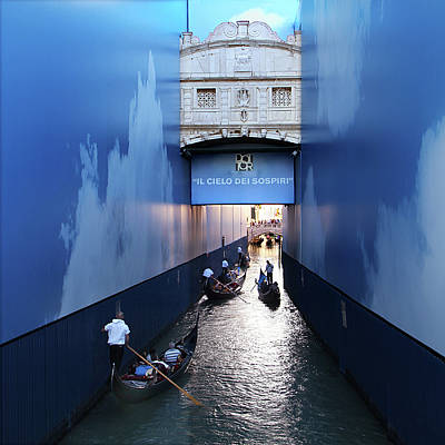 Bridge Of Sighs Wrapped In Blue Poster