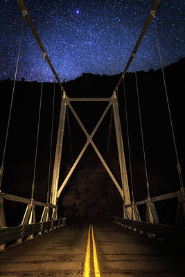 Poster featuring the photograph Bridge Of Stars by Cat Connor
