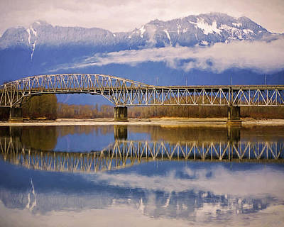 Poster featuring the photograph Bridge Over Calm Waters by Jordan Blackstone