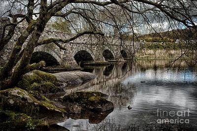 Bridge Over Llyn Padarn Poster by Amanda Elwell