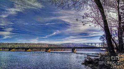 Bridge Over The Delaware River In Winter Poster