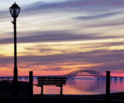 Bridge Reflection Poster by Vicki Jauron