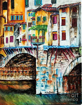 Poster featuring the painting Bridge The Gap by Maria Barry