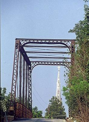 Poster featuring the photograph Bridge To God by Gary Wonning