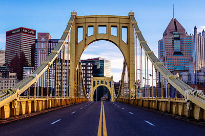 Bridge To Pittsburgh Poster by Paul Scolieri