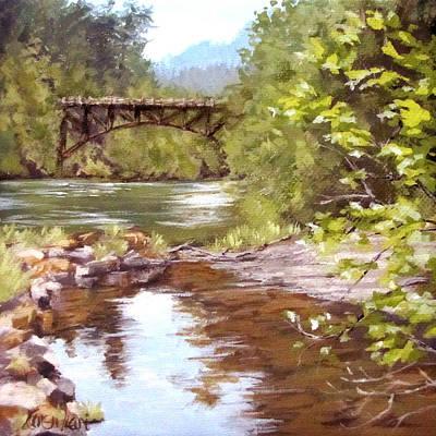 Bridge View Poster by Karen Ilari