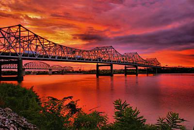 Bridges At Sunrise Poster